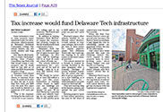 Link to Tax increase would fund Delaware Tech infrastructure article