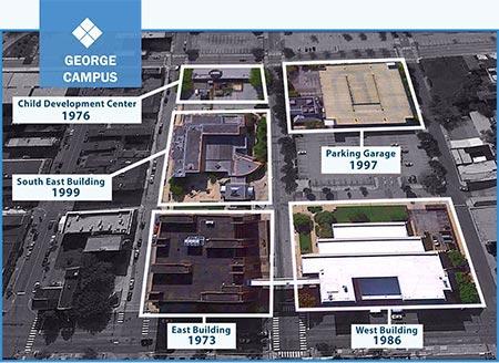 george campus map