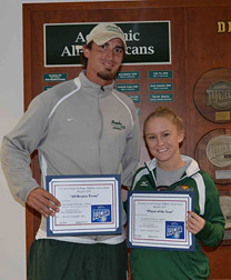 Delaware Technical Community College Terry Campus Athletic Director Anthony Edwards and Samantha Pedicone