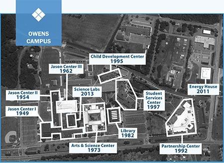 owens campus map