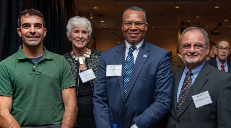 The featured speaker was Delaware Secretary of Transportation Jennifer Cohan and the panel (pictured) included, from left, Jay Baxter, Susan Bunting, Dwayne Kilgo, and moderator Dr. Bill McGowan.