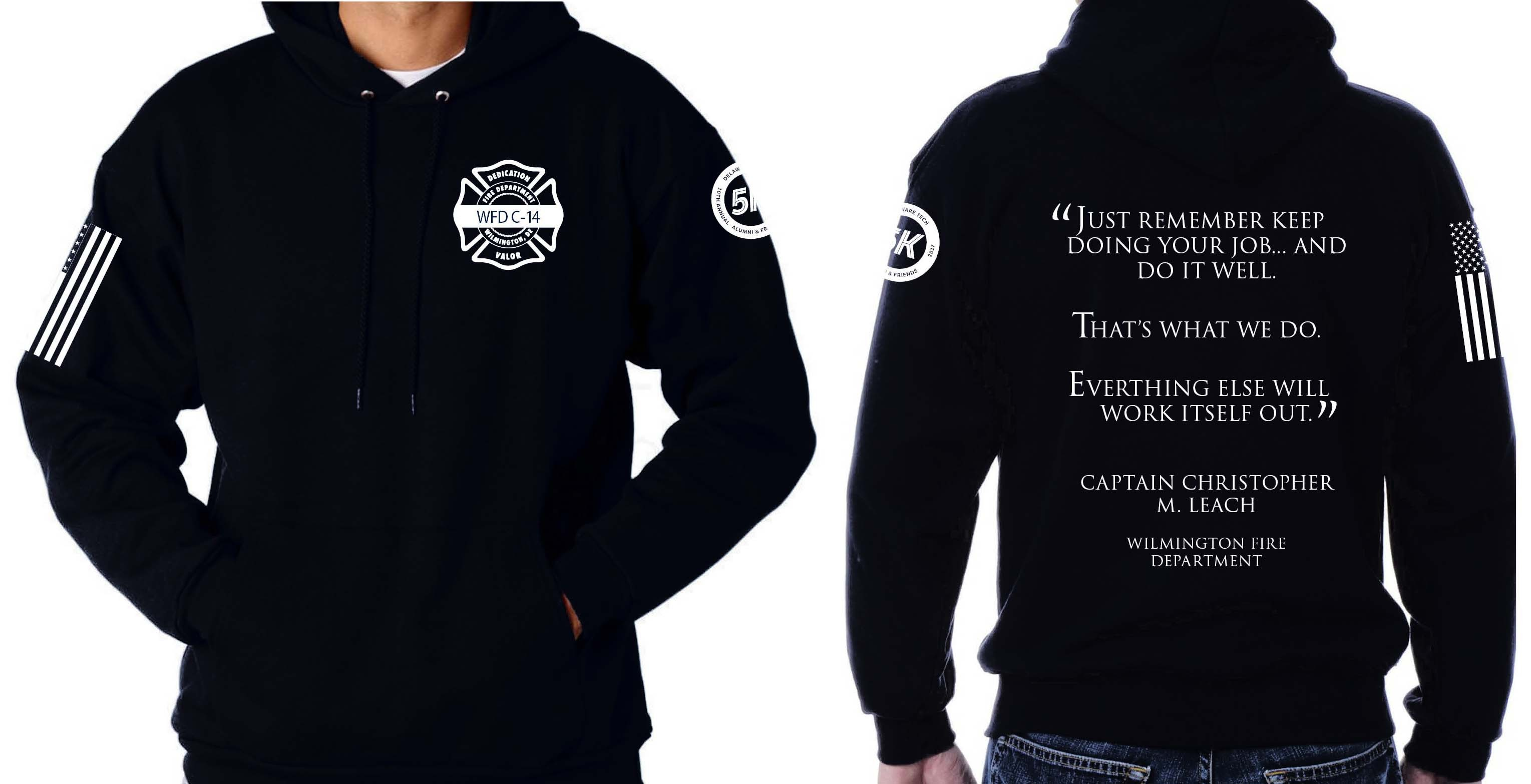Alumni and Friends 5k sweatshirt mockup