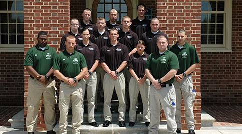 Graduates of the Delaware Tech and the Delaware State Police first class pose
