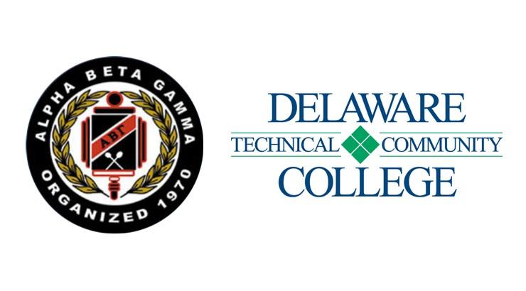 Alpha Beta Gamma logo and Delaware Tech logo