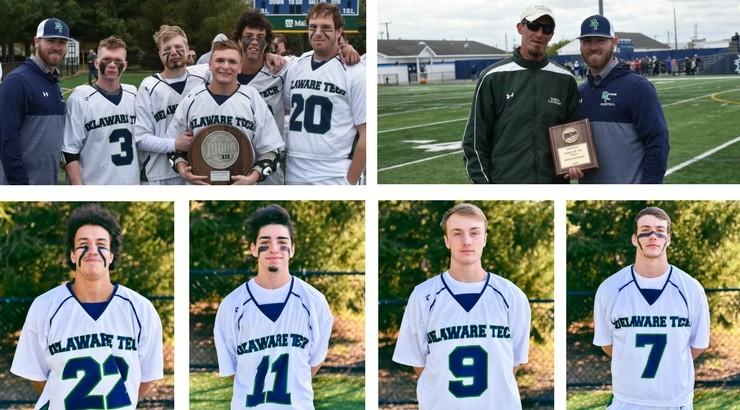 Delaware Tech lacrosse players