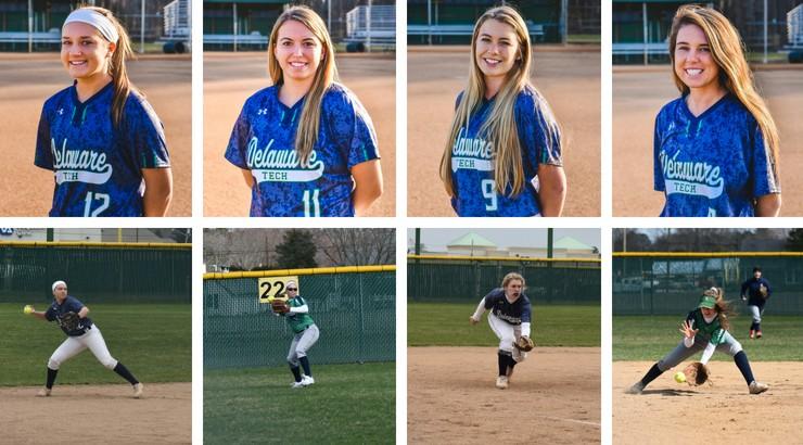 All Region Softball Players Megan Fry, Brooke Stoeckel, Elizabeth Smith, and Madison McGee