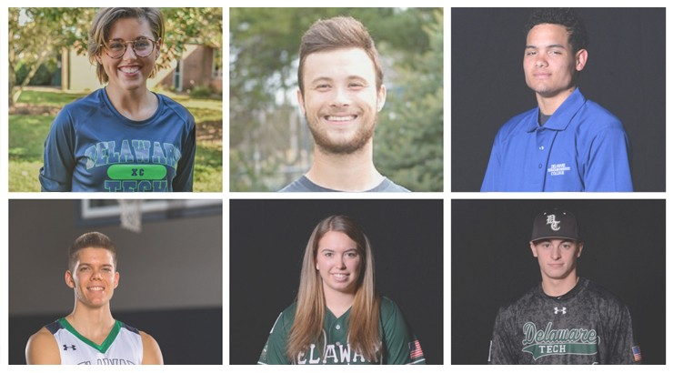 A collage of the six students being honored