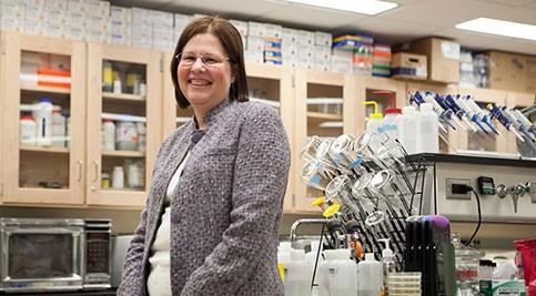 Dr. Virginia Balke in lab