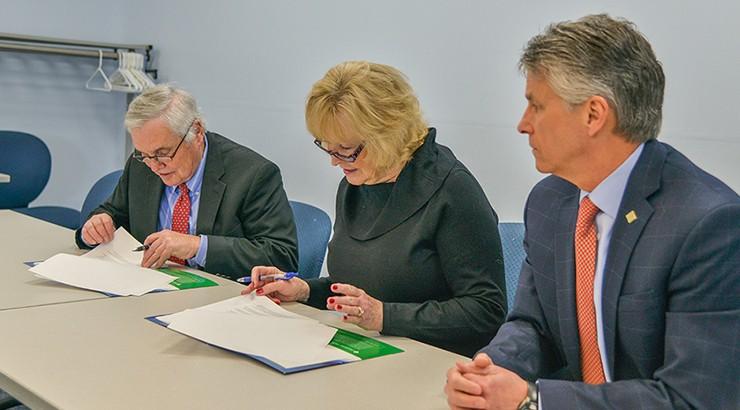 Philip Wescott, Judith Wells Brunner, and Doctor Mark Brainard