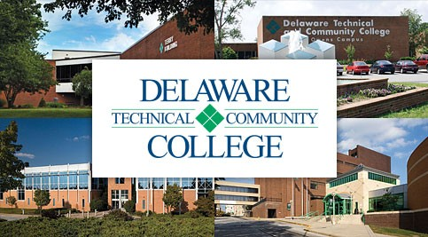 Delaware Tech logo with campus images