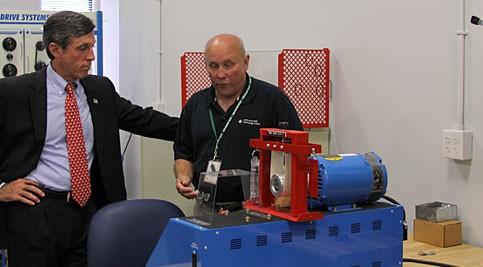 Congressman John Carney toured Delaware Tech's Innovation and Technology Center
