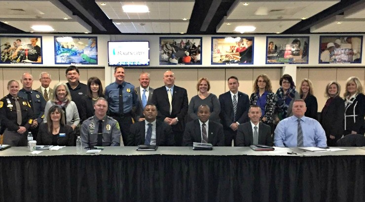 Criminal Justice advisory board group photo