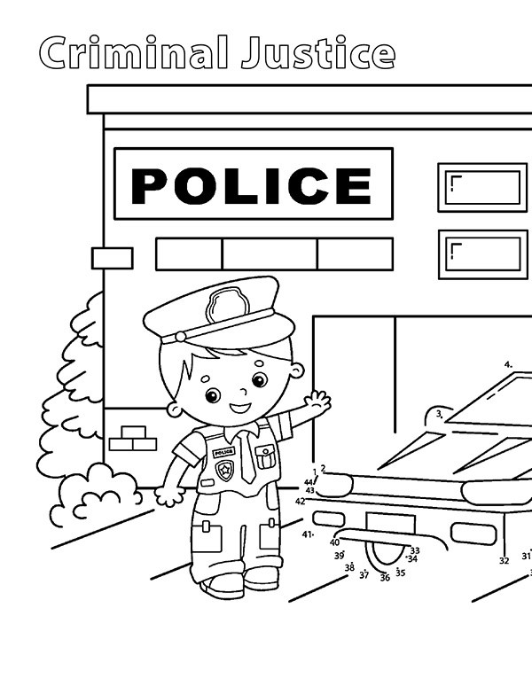 Delaware Tech criminal justice coloring page link.