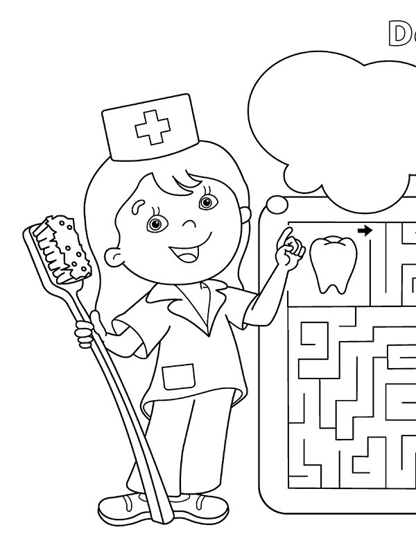 Delaware Tech dental hygiene coloring page link.