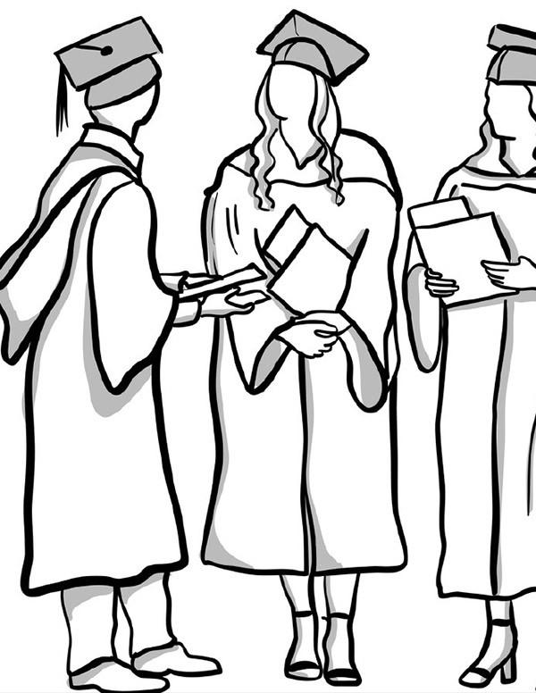 Delaware Tech graduates coloring page link.