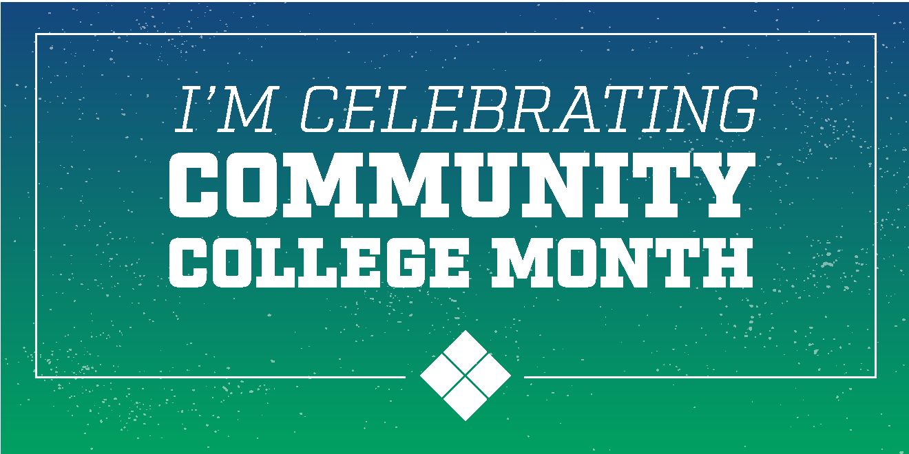 Community College Month Twitter graphic