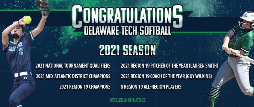 Link to athletics website. Congratulations to Delaware Tech Softball. List of awards.