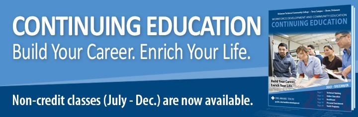 Link to Continuing Education - Build Your Career. Enrich Your Life. Non-credit classes (July - Dec.)