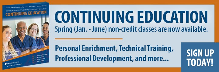 Link to Continuing Education Spring, January to June non-credit classes. Personal Enrichment, Technical Training, Professional Development, and much more.