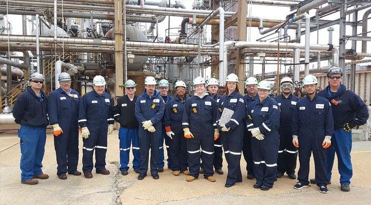 Chemical Process Operator (CPO) program students visiting the Delaware City Refinery.