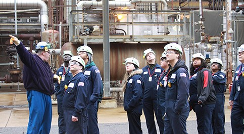 Chemical Process Operator Students Tour Delaware City Refinery