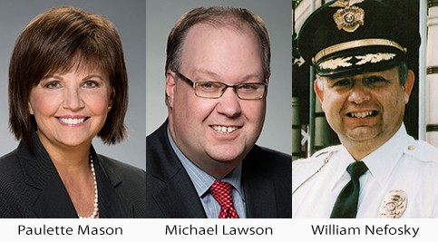 Paulette Mason, Michael Lawson and William Nefosky