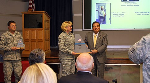 Delaware Air National Guard recognized members of Delaware Technical Community College