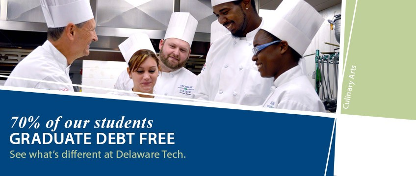 70% of our students graduate debt free - link to see what's different at Delaware Tech