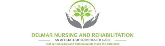 Delmar Nursing and Rehabilitation logo.