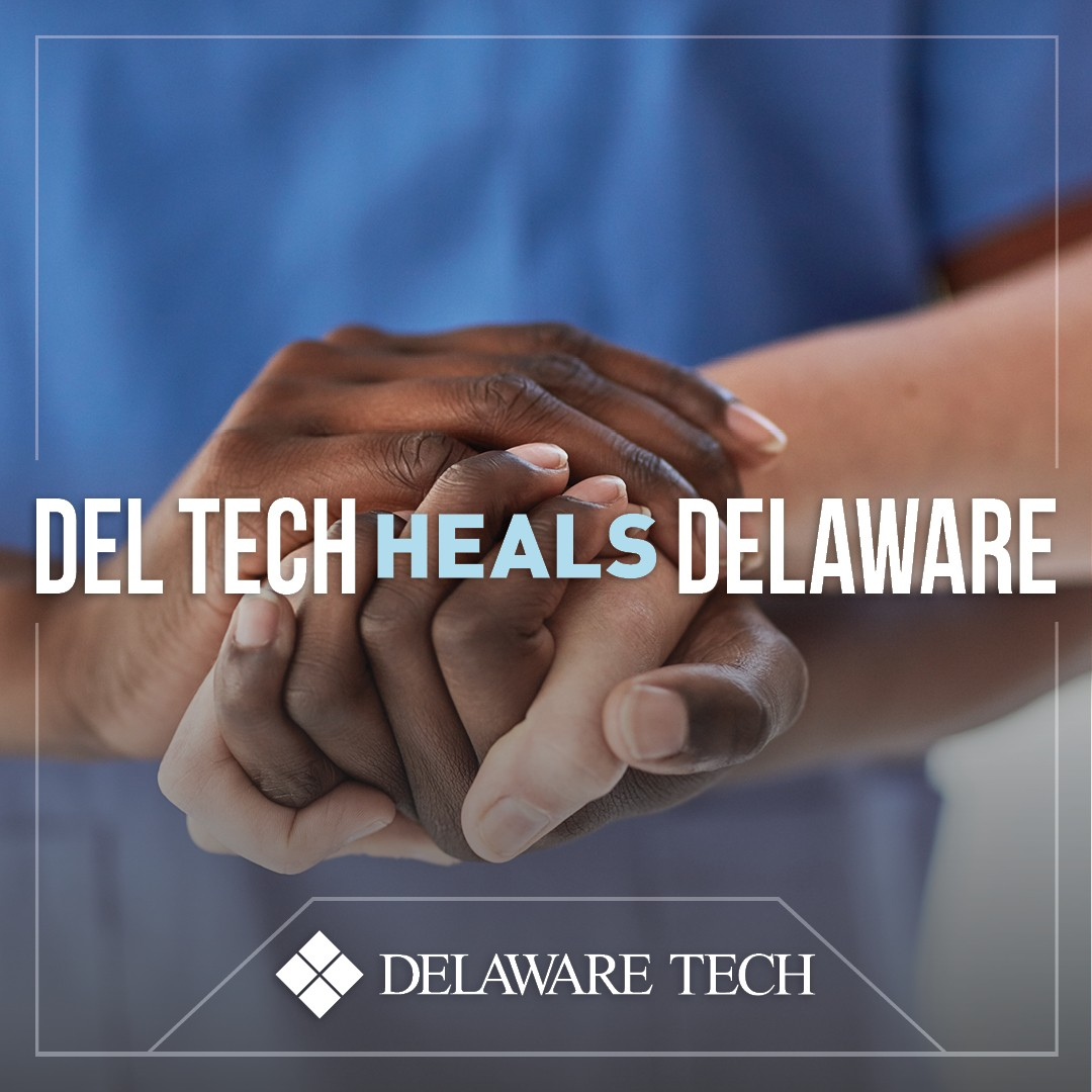 Del Tech Heals Delaware Facebook Instagram and LinkedIn graphic