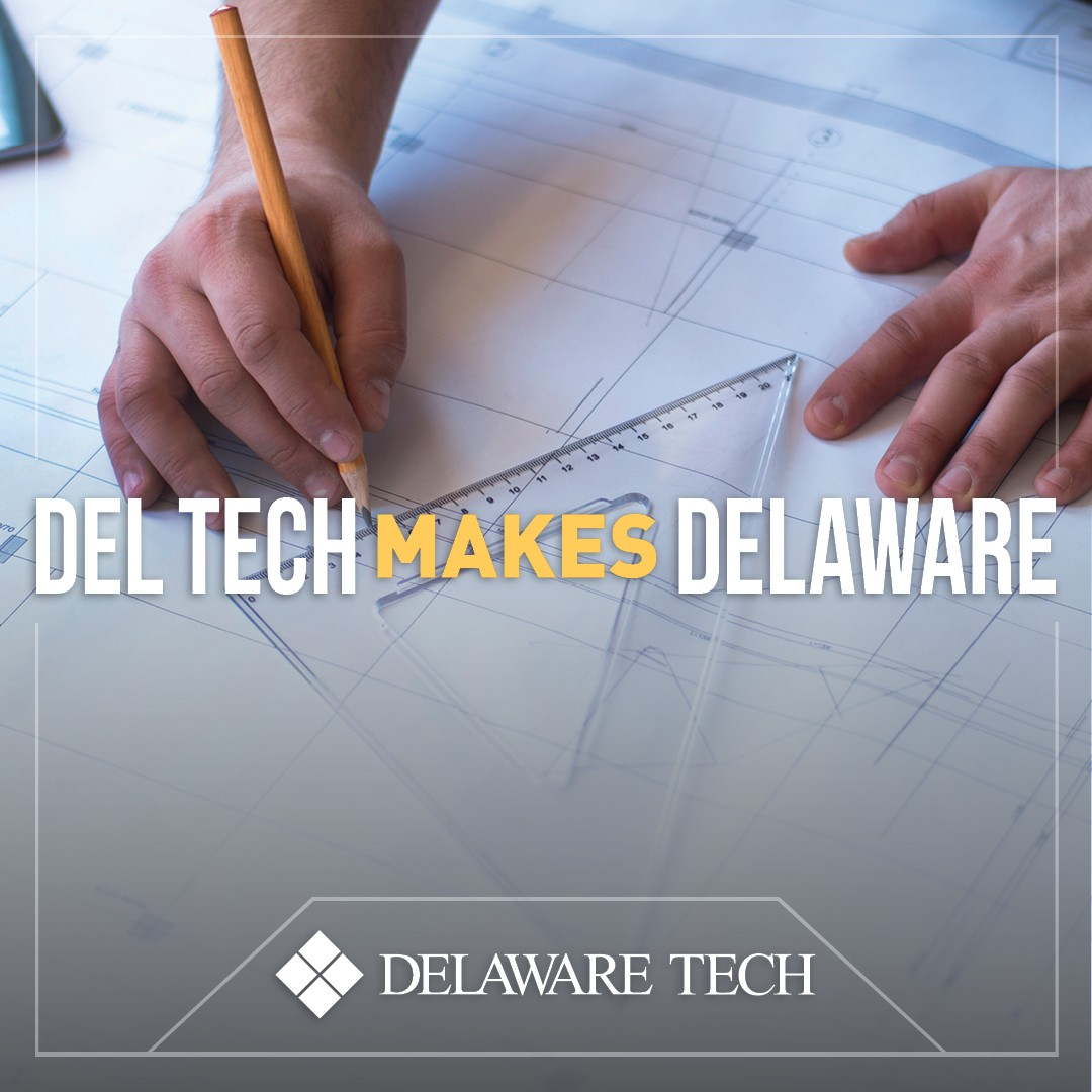 Del Tech Makes Delaware Facebook Instagram and LinkedIn graphic