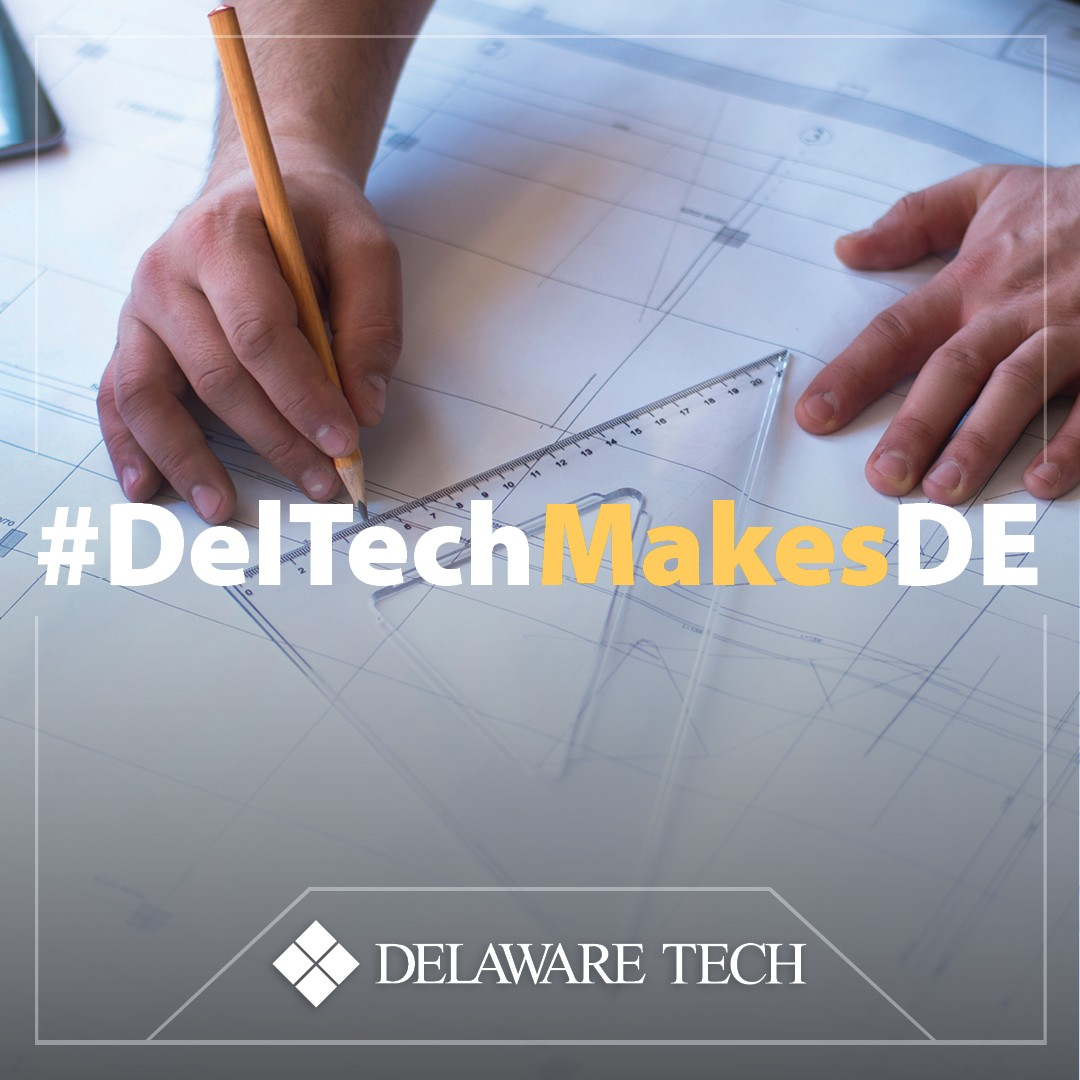 Del Tech Makes Delaware Facebook Instagram and LinkedIn hashtag graphic