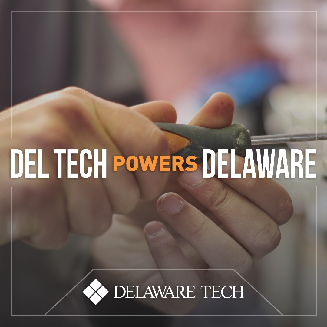 Del Tech Powers Delaware Facebook Instagram and LinkedIn graphic