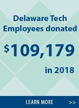 Delaware Tech employees raised $109,179 in 2018