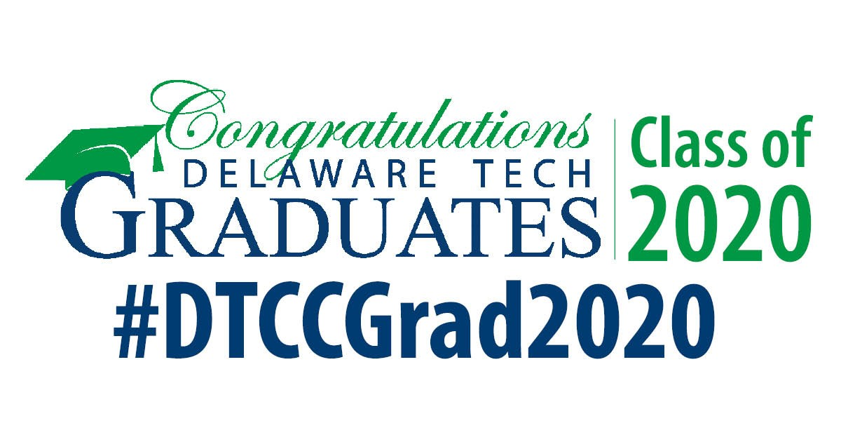 Graphic for Facebook with text that says Congratulations Delaware Tech Graduates Class of 2020