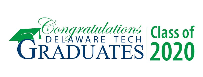 Facebook cover image with text that says Congratulations Delaware Tech Graduates Class of 2020
