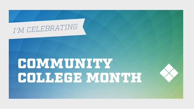 Facebook cover photo graphic for Delaware Tech Community College month