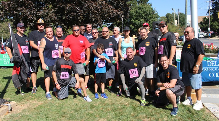 Fire Department at the Alumni and Friends 5K