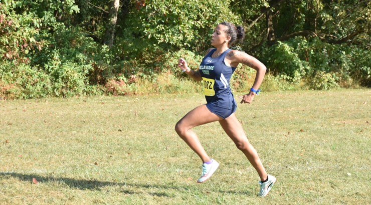 Cortez running at a Cross Country meet