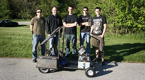 Students in a Mechanical Engineering Technology (MET) course recently competed in a race of electric go-karts that they designed and built by hand.