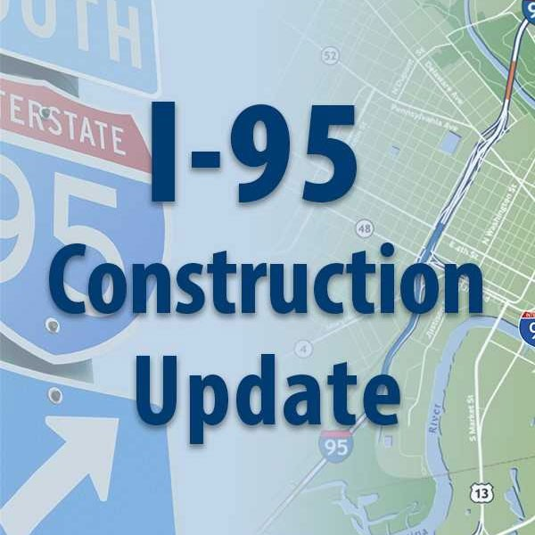I-95 Construction Update graphic.