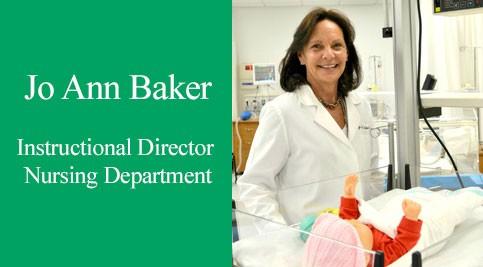 Jo Ann Baker, instructional director of the nursing department