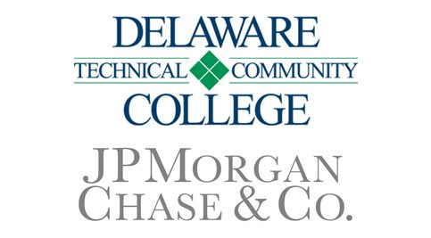 Delaware Tech and JPMorgan Chase logos