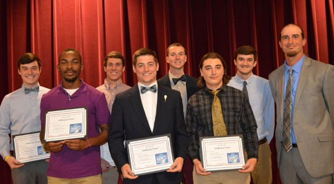 Terry Campus men's lacrosse players receiving award