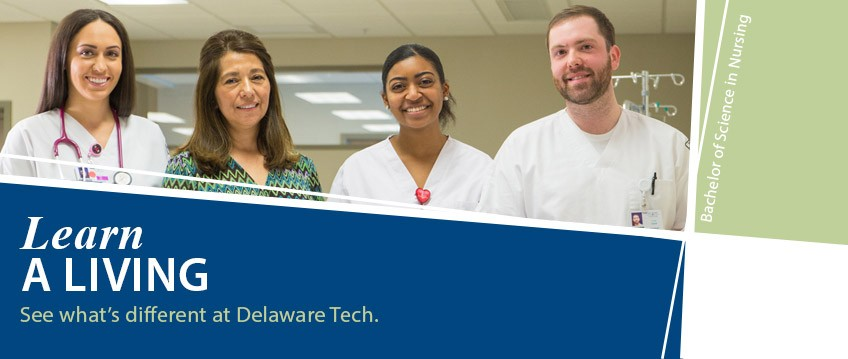 Learn a living. See what's different at Delaware Tech. Link to learn more.
