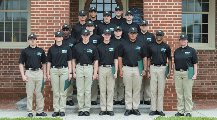 The 2019 Law Enforcement Option class standing outside Delaware State Police Headquarters