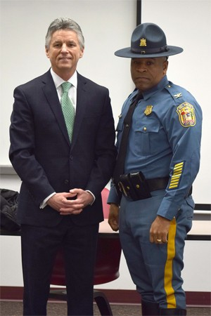 Col. McQueen and President Dr. Mark Brainard