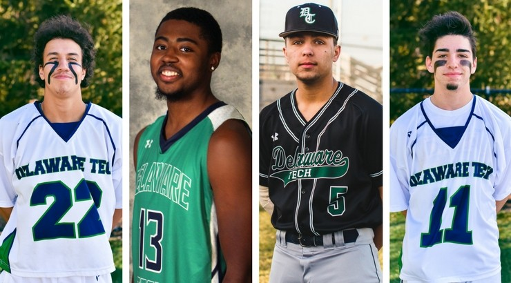 March Athletes of the week Bodin Nichols, Darrell Jenkins, Dwayne Harmon, and Jacob Soroko