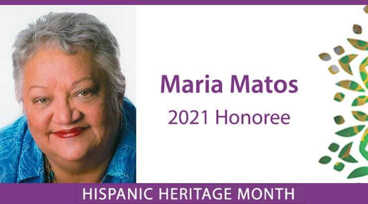 Maria Matos Honored for Hispanic Heritage Month