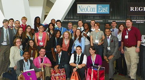 Group image of NeoCon attendees